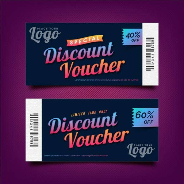 discount code voucher template