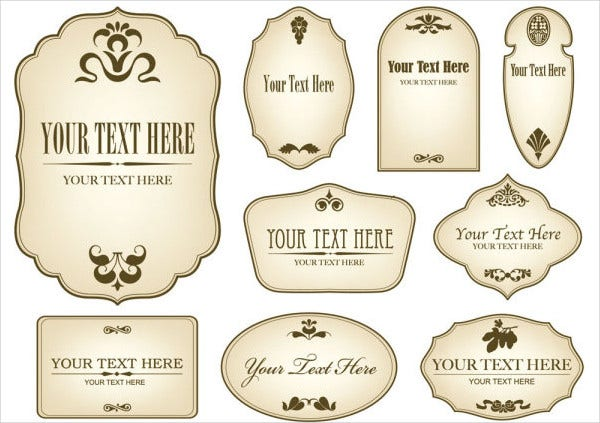 free vintage bottle label template