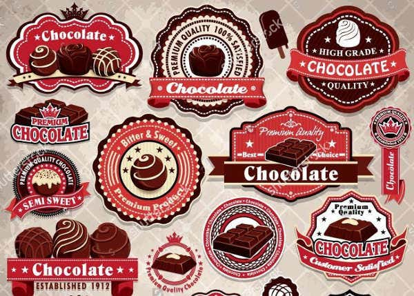 vintage chocolate label template