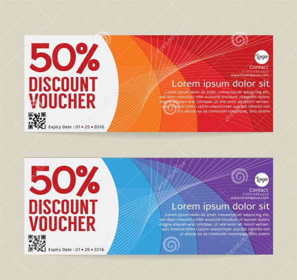 modern discount voucher template