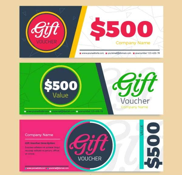 colorful discount voucher template