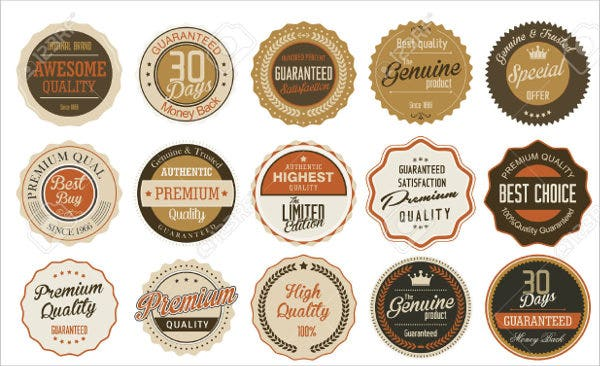 vector round product labels set