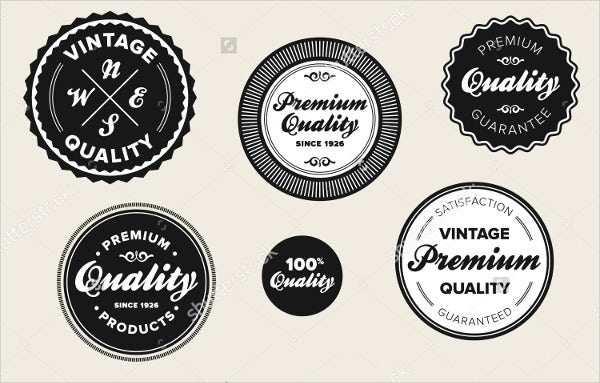 vintage round product label