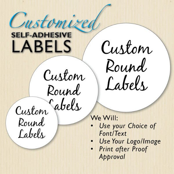 custom round product label