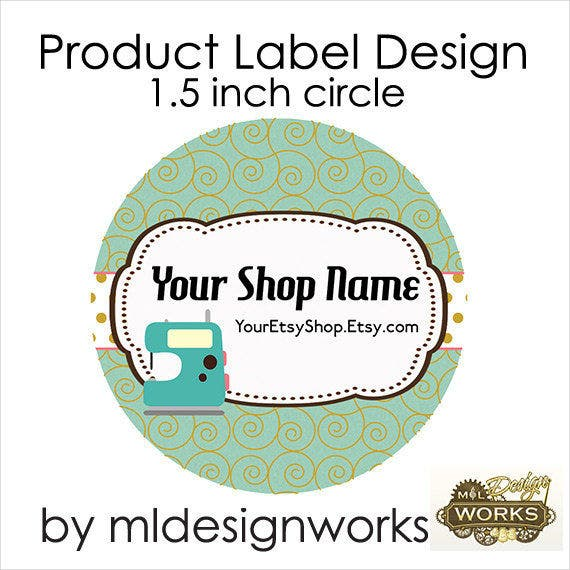 small round product label