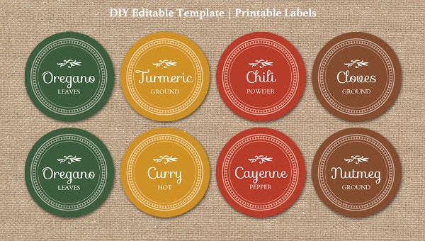 graphic relating to Free Printable Round Labels known as 13+ Spherical Products Label Templates - No cost Printable PSD, Term