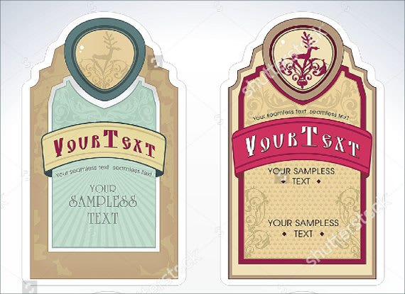 Beauty Product Label Templates  Free Printable Psd Word Pdf