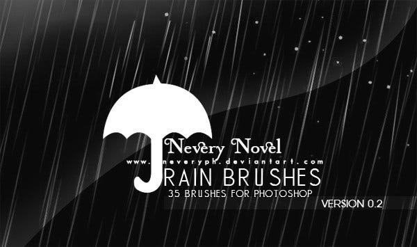 High Res PS Rain Brushes
