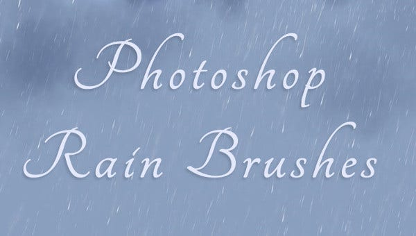photoshop rain brushes