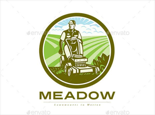 lawn service business logo
