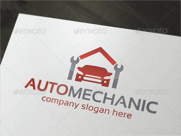 mechanic auto service logo