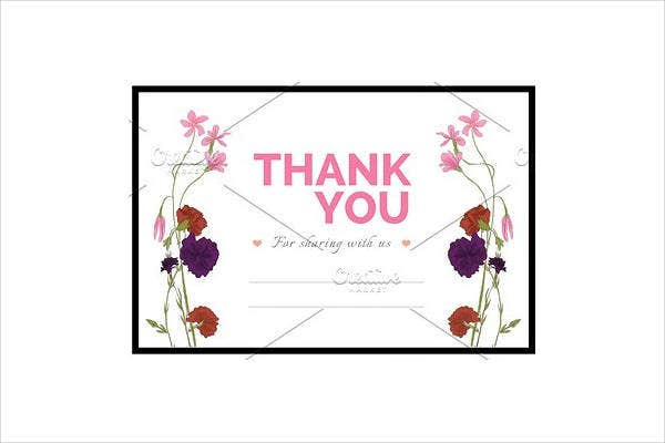 Wedding Thank You Gift Card