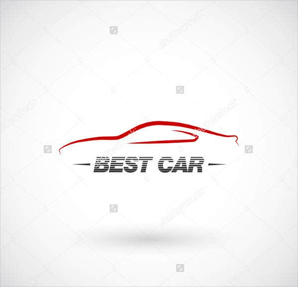 abstract auto service logo
