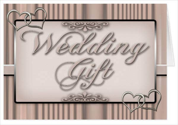 Personalized Wedding Gift Card