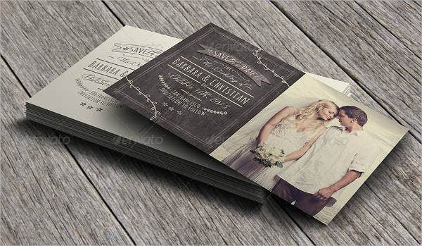Rustic Wedding Gift Card