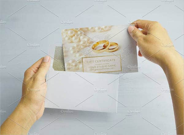 Unique Wedding Gift Card