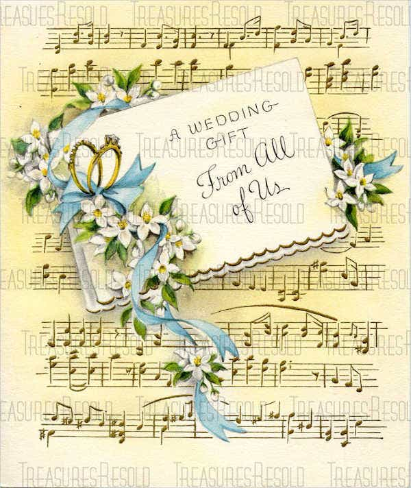 Vintage Wedding Gift Card