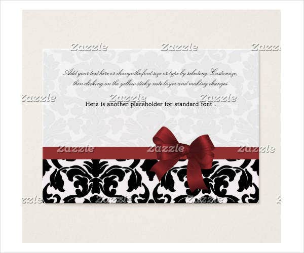 Wedding Shower Gift Card