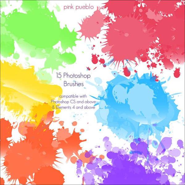paint splash brushes