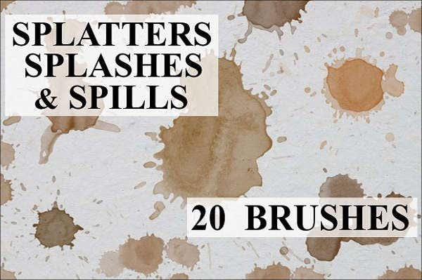 splatter and splash brushes