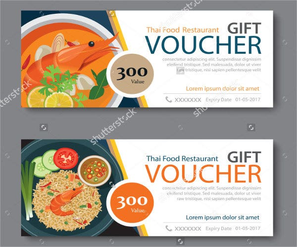 Food voucher template discount voucher template with thai for Free meal coupon template