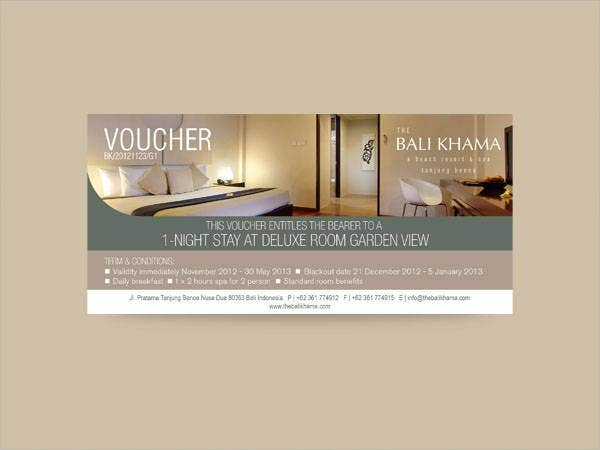 Spa Hotel Voucher Template