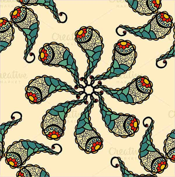 Paisley Pattern Brushes