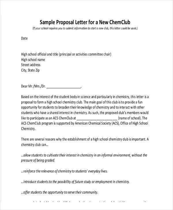 Club Membership Offer Letter Template  Informal Proposal Template
