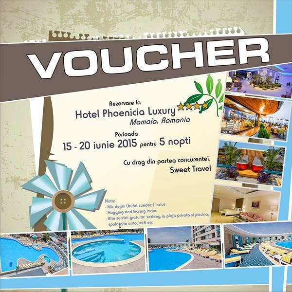 hotel accomodation voucher template