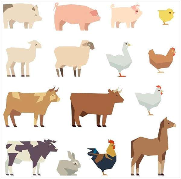 cartoon-farm-animal-template