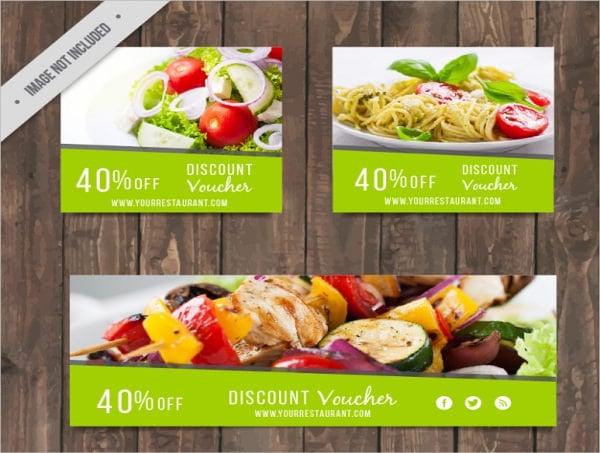 food restaurant voucher template1