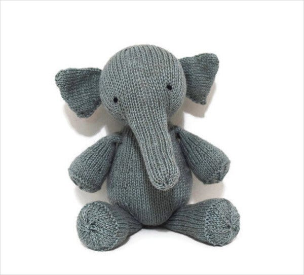 Elephant Stuffed Animal Template