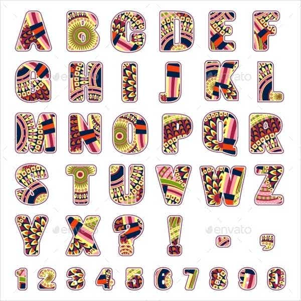 tribal-alphabet-letters-and-numbers