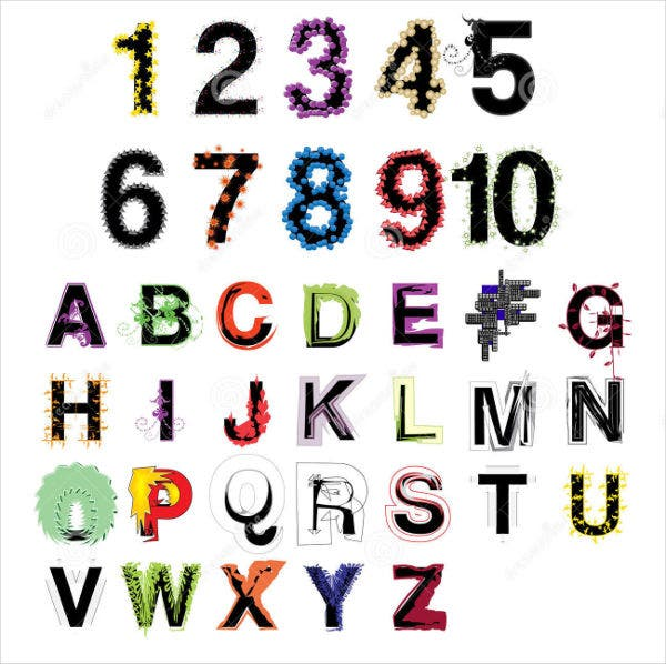 Decorative Alphabet Letters and Numbers