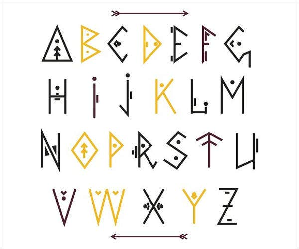 decorative-tribal-alphabet-letters