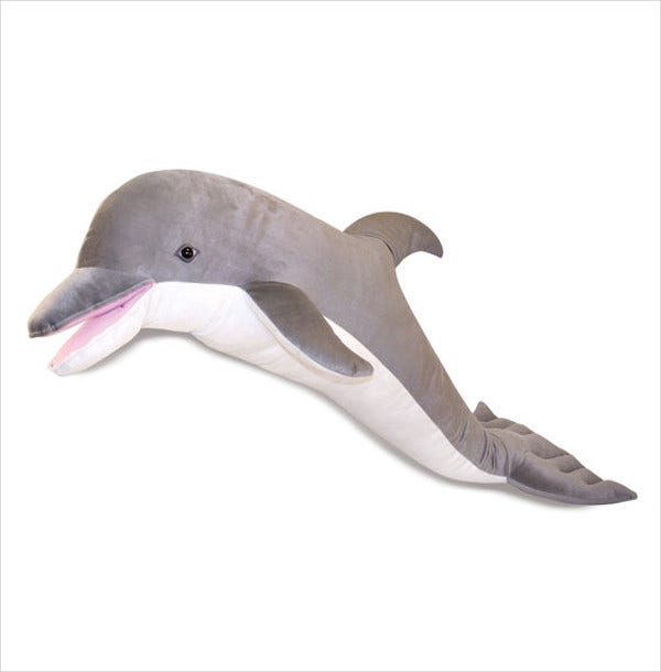 dolphin stuffed animal template