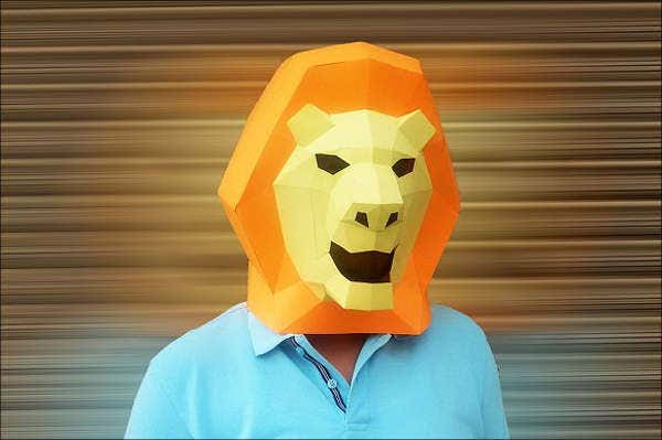 geometric-animal-mask-template