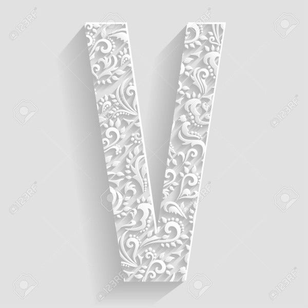 Vector Decorative Alphabet Letters