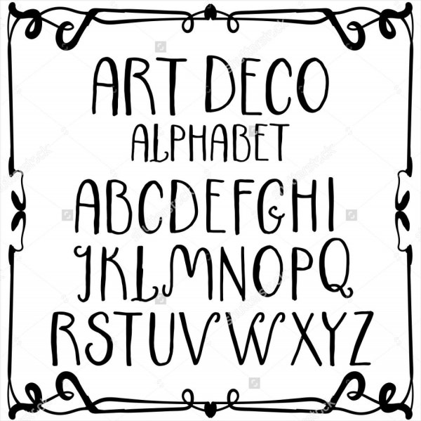 Handwritten Decorative Alphabet Letters