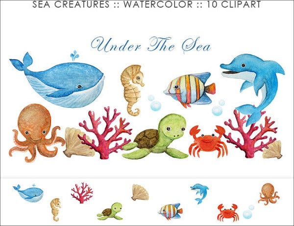sea-animal-clip-art-template