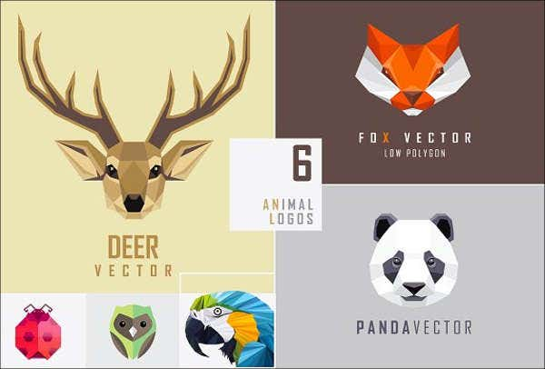 vector-geometric-animal-template