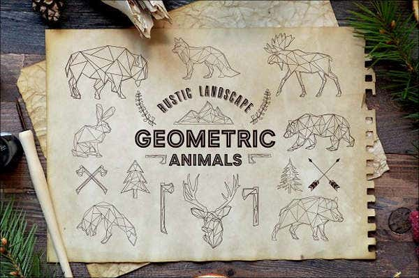 geometric-paper-animal-template