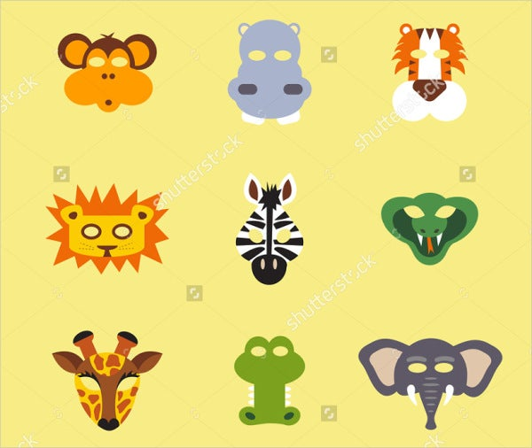 jungle-animal-mask-template