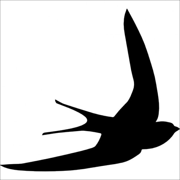 flying bird shape template