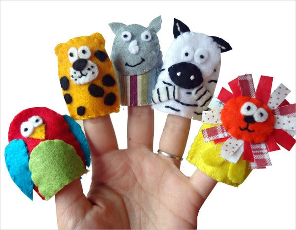 jungle-animal-finger-puppet-template