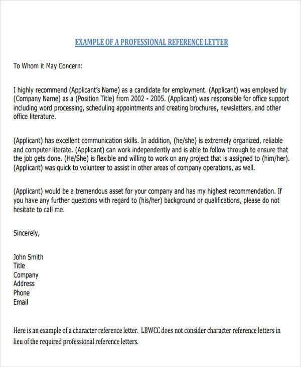 nursing reference letter templates 8 free word pdf