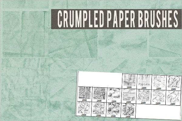Crumpled Paper Brushes