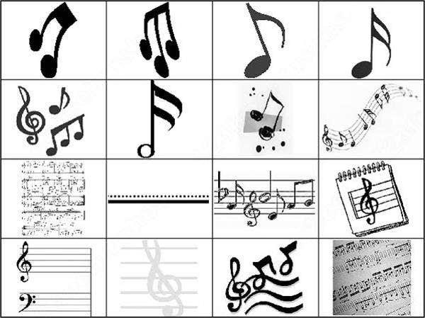 free music note brushes