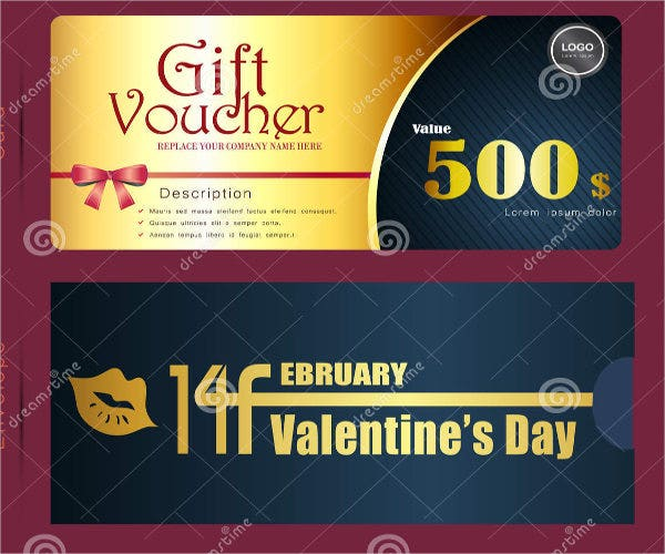 vintage restaurant voucher template
