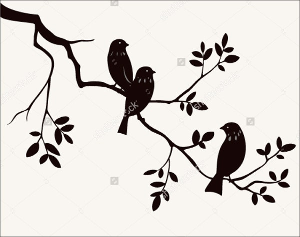 spring bird shape template